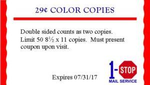 Color Copies 29 cents