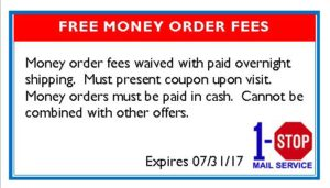 Free money order fees
